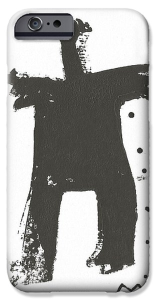 Cut-outs Mixed Media iPhone Cases - SHADOWS No. 7  iPhone Case by Mark M  Mellon