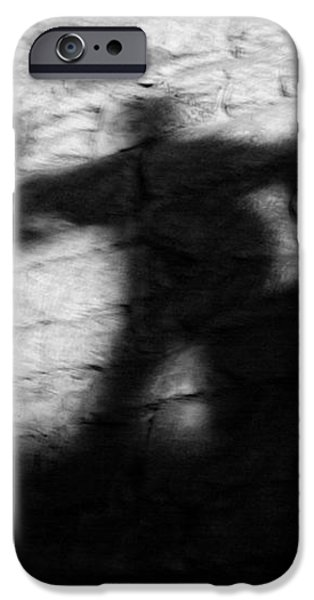 Shadows on the Wall of Edinburgh Castle  iPhone Case by Christine Till