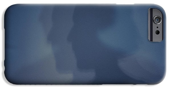 Inner Self Photographs iPhone Cases - Shadows on Wall iPhone Case by Jim Corwin