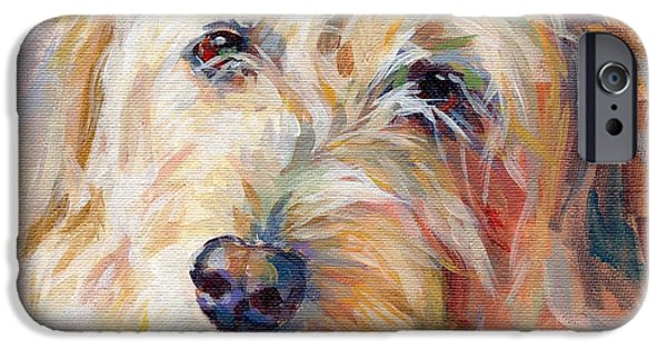 Mixed Breed iPhone Cases - Shaggy Schatzi iPhone Case by Kimberly Santini