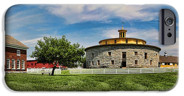 Agriculture iPhone Cases - Shaker Pastoral Panorama iPhone Case by Stephen Stookey