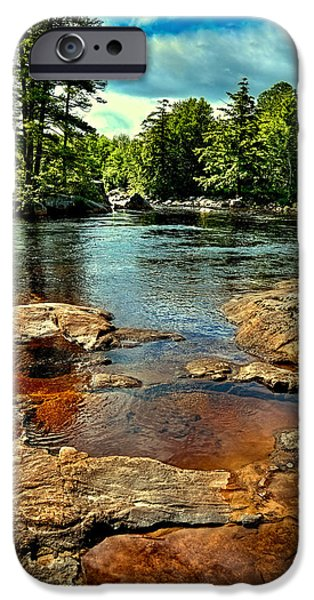 Summer iPhone Cases - Shallow Pool on the Moose River iPhone Case by David Patterson