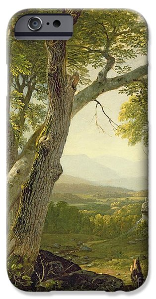 Hudson River iPhone Cases - Shandaken Ridge - Kingston iPhone Case by Asher Brown Durand