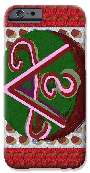 Serpent Mixed Media iPhone Cases - SHANTI Peace  Chokurei Karuna Reiki Healing Symbol art buy posters greetings pillows duvet covers ph iPhone Case by Navin Joshi