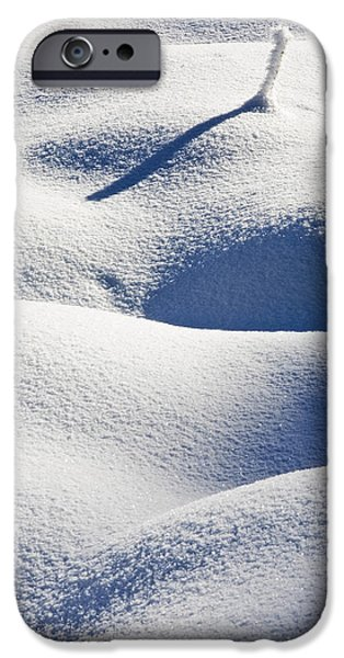 Snow iPhone Cases - Shapes of Winter iPhone Case by Mike  Dawson