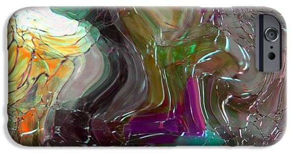 Depression Paintings iPhone Cases - Shards of Glass iPhone Case by Mindy Sommers