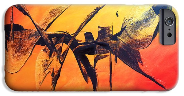 Recently Sold -  - Red Abstract iPhone Cases - Shared Dream iPhone Case by Florentina Maria Popescu
