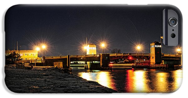 Shark iPhone Cases - Shark River Inlet at Night iPhone Case by Paul Ward