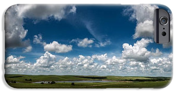 Dirty iPhone Cases - Sharps Creek Road Panorama iPhone Case by Eric Benjamin