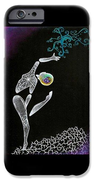 Ballet Dancers iPhone Cases - Shattered Dancer iPhone Case by Summer Porter