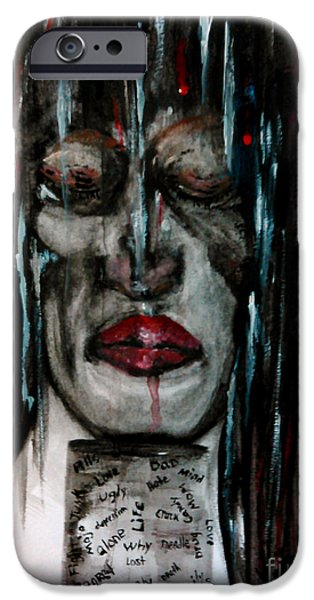 Dismantled iPhone Cases - Addiction and Depression iPhone Case by Lori  Lovetere