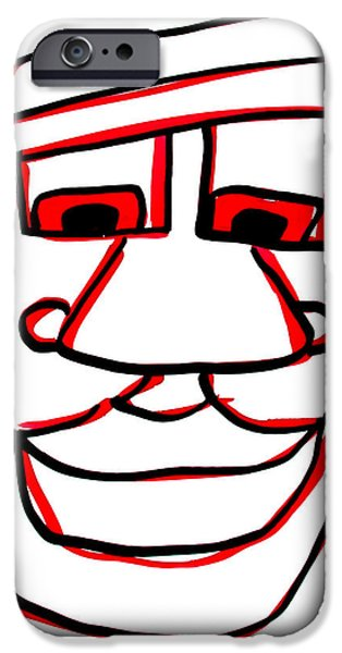 Character Portraits Drawings iPhone Cases - Shaun iPhone Case by Jera Sky