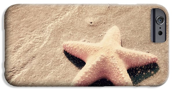Starfish iPhone Cases - She Dreamed of Becoming a Star iPhone Case by Amy Tyler