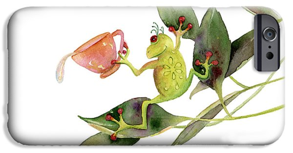 Frogs iPhone Cases - She Frog iPhone Case by Amy Kirkpatrick