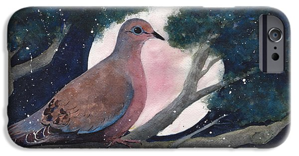 Birds Paintings iPhone Cases - She Waits iPhone Case by Susy Soulies