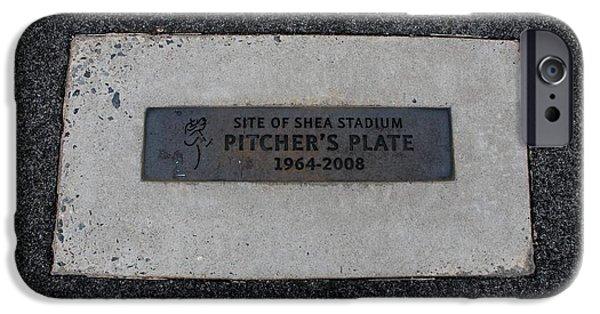 Shea Stadium iPhone Cases - Shea Stadium Pitchers Mound iPhone Case by Rob Hans