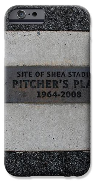 SHEA STADIUM PITCHERS MOUND iPhone Case by ROB HANS