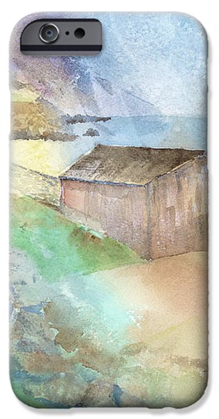 Shed By A Lake In Ireland iPhone Case by Arline Wagner