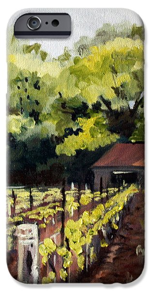 Shed in a Vineyard iPhone Case by Sarah Lynch