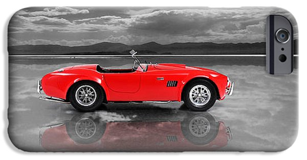 Cobra iPhone Cases - Shelby Cobra 1965 iPhone Case by Mark Rogan