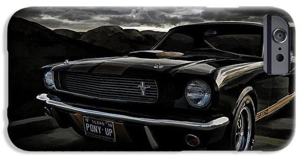 Mustang iPhone Cases - Shelby GT350H Rent-A-Racer iPhone Case by Douglas Pittman