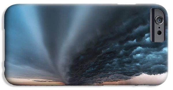 Nebraska iPhone Cases - Shelf cloud over the Sandhills iPhone Case by Valentina Abinanti