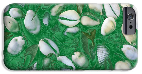 Abstract Digital Tapestries - Textiles iPhone Cases - Shells iPhone Case by Suzi Freeman