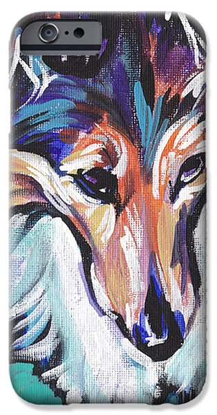 Sheltie iPhone Cases - Sheltie Luv iPhone Case by Lea