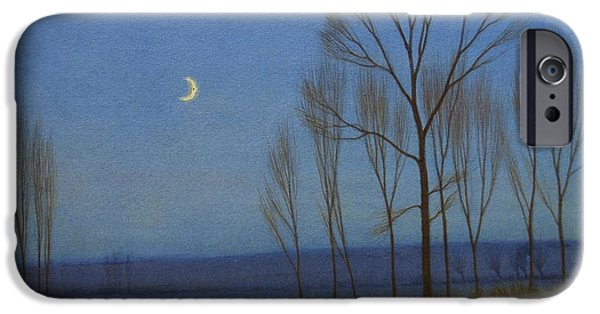 Recently Sold -  - Moonscape iPhone Cases - Shepherd and Sheep at Moonlight iPhone Case by OB Morgan