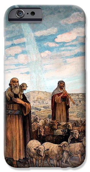 Shepherds Field Painting iPhone Case by Munir Alawi