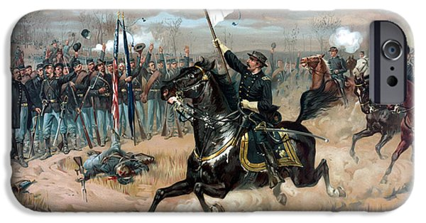 History iPhone Cases - Sheridans Ride iPhone Case by War Is Hell Store