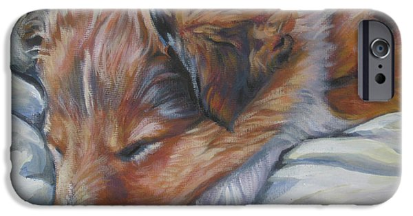 Shetland Sheepdog iPhone Cases - Shetland sheepdog sleeping puppy iPhone Case by Lee Ann Shepard