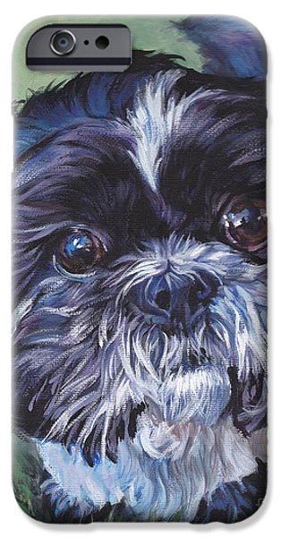 Recently Sold -  - Puppies iPhone Cases - Shih Tzu iPhone Case by Lee Ann Shepard