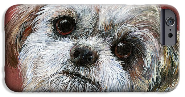 Puppies iPhone Cases - Shih Tzu iPhone Case by Sherry Shipley