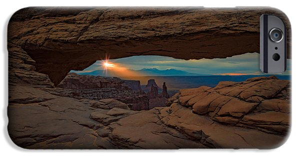 The Plateaus iPhone Cases - Shining Down On Mesa Arch iPhone Case by Rick Berk