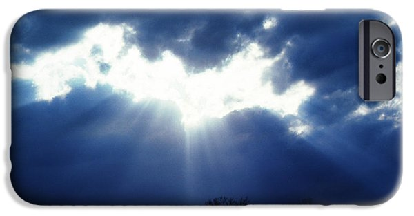 Sun Breaking Through Clouds iPhone Cases - Shining Glory iPhone Case by Thomas R Fletcher