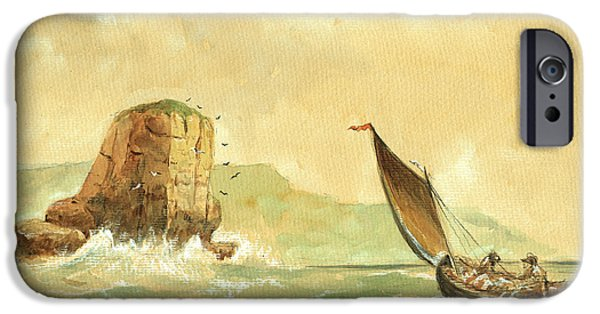 Storm iPhone Cases - Ship at the storm iPhone Case by Juan  Bosco