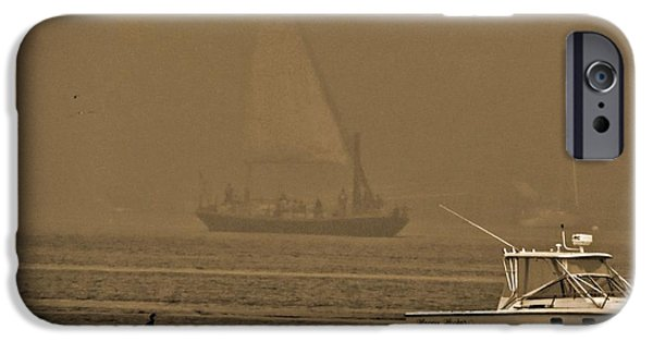 River View iPhone Cases - Ship From The Past iPhone Case by Marcia Lee Jones