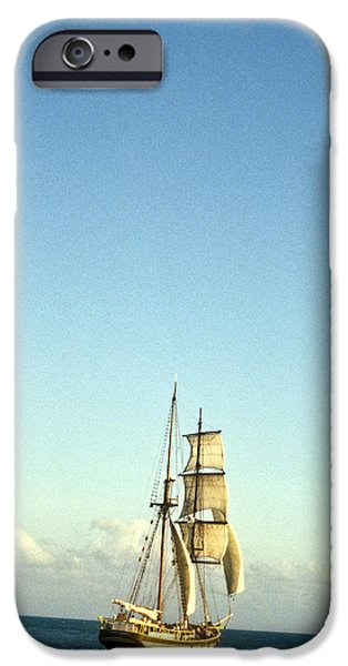Pirate Ship iPhone Cases - Ship off the bow iPhone Case by Douglas Barnett