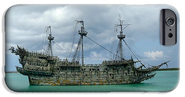 Pirate Ship iPhone Cases - Ship wrecked iPhone Case by FL collection