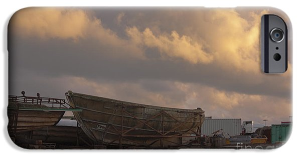 Industry iPhone Cases - Ship Yard iPhone Case by Terri  Waters