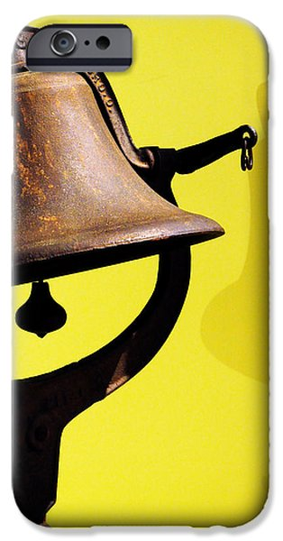 History iPhone Cases - Ships Bell iPhone Case by Rebecca Sherman