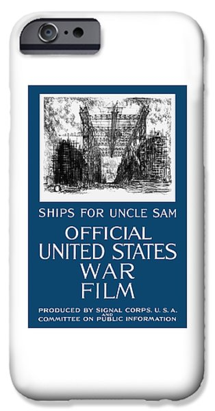 World War One iPhone Cases - Ships For Uncle Sam iPhone Case by War Is Hell Store