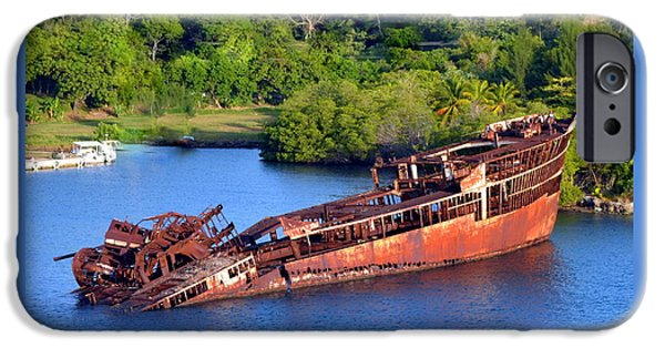 Rust iPhone Cases - Shipwreck iPhone Case by Melinda Baugh