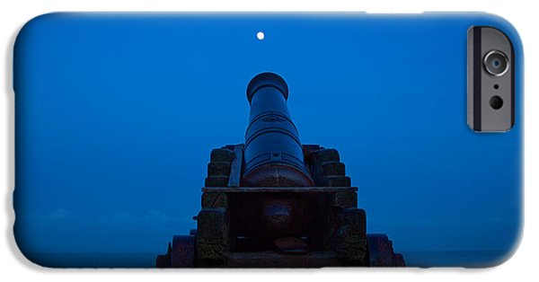 Sea Moon Full Moon Photographs iPhone Cases - Shoot for the Moon iPhone Case by Dave Meier