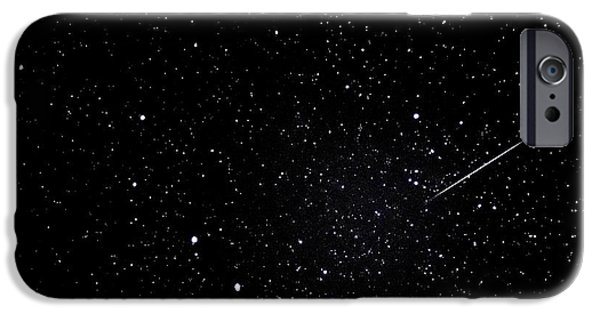 Constellations iPhone Cases - Shooting Star and Big Dipper iPhone Case by Thomas R Fletcher