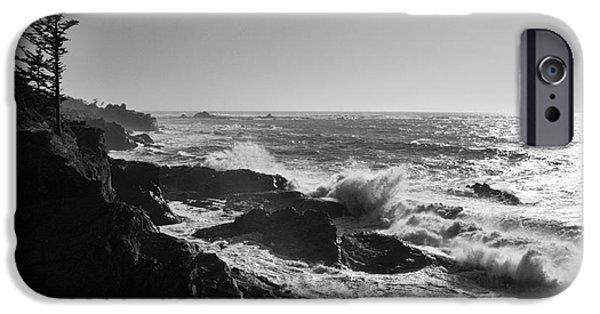 Power iPhone Cases - Shore Acres Coastline iPhone Case by Vivian Christopher