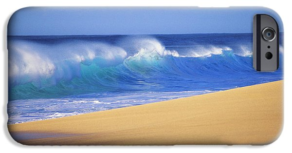 Turbulent Skies iPhone Cases - Shorebreak Waves iPhone Case by Ali ONeal - Printscapes