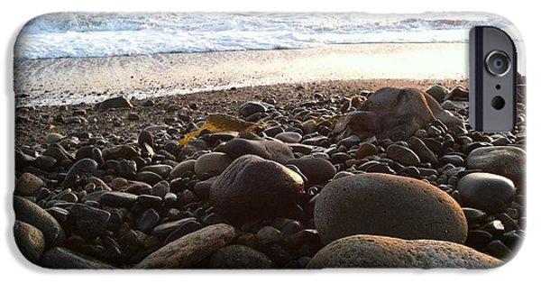 Ocean Sunset iPhone Cases - Shorline iPhone Case by Desiree Martinez