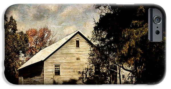 Rural iPhone Cases - Short Days of Autumn iPhone Case by Pamela Phelps